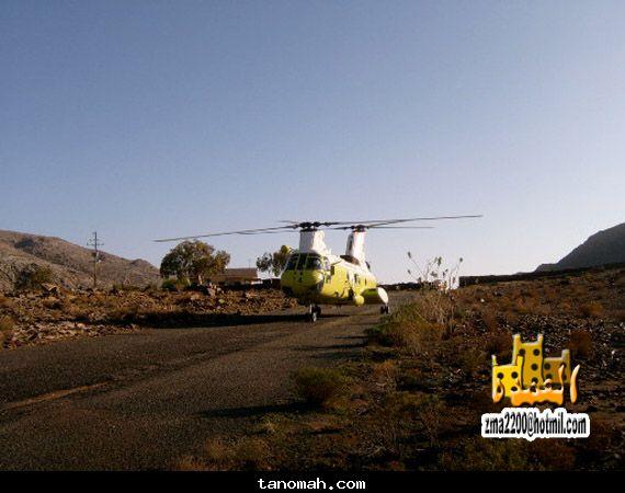 طائرة الدفاع المدني في هبوط لها شرق النماص