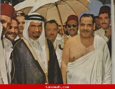 الحج - هذه الصوره تبين رئيس الوفد المصرى للحج مع حاكم جده (القائم مقام) وهو الأمير عبد الرحمن السديري رحمه الله