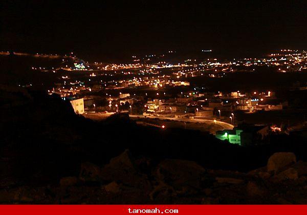صور ليلية لتنومة_تصوير عبدالله غرمان
