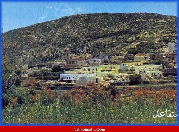 ابها -صورة قديمة لقرية السقا على طريق السودة