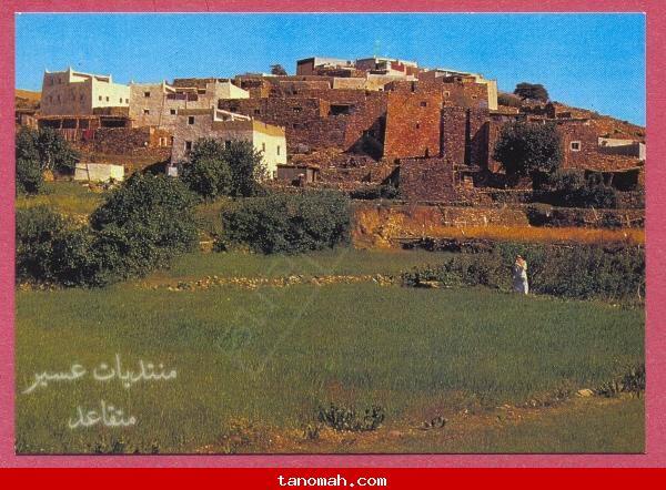 صورة قديمة لقرية بيحان في بالحمر .