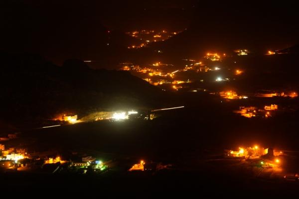 صورة ليلية لمليح  في أجواء غير صافية