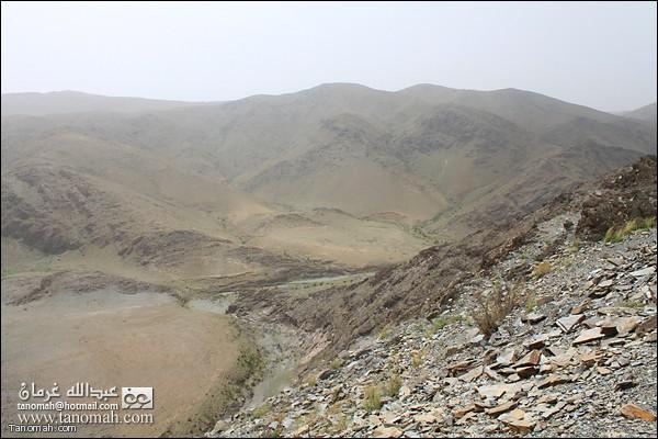 منظر لبداية وادي عيا من بللحمر (صبح)