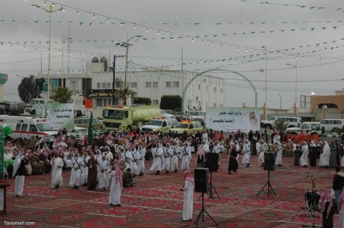 حفل أهالي محافظة النماص بمناسبة عودة الملك الى أرض الوطن بعد رحلته العلاجية (تصوير- محمد عامر)