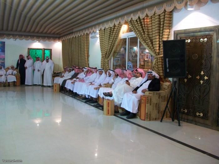 حفل تكريم رؤساء مركز تنومة القرقاح والهزاني وكاتب العدل آل زاهر (تصوير حمود الشبيلي)