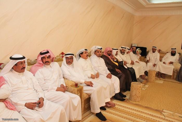 إحتفاء الشيخ علي بن فراج بالبرفسور علي الجحني
