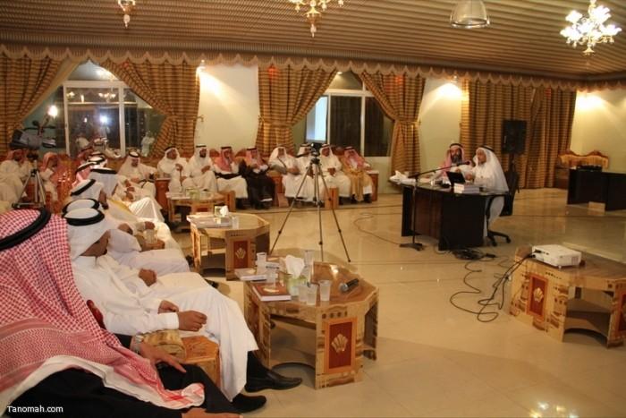 حفل تكريم لأبناء هذه المنطقه ولقاء الدكتور العواجي في إثنينية تنومة (عدسة عبدالله جاري)