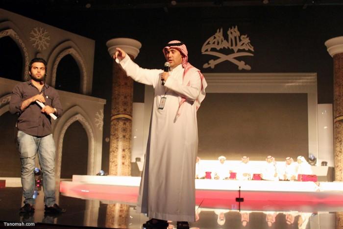 الحلقة السادسة - الجولة الأولى من مسابقة شاعر الملك - الأستاذ نايف الكرشمي رئيس اللجنة الاعلامية