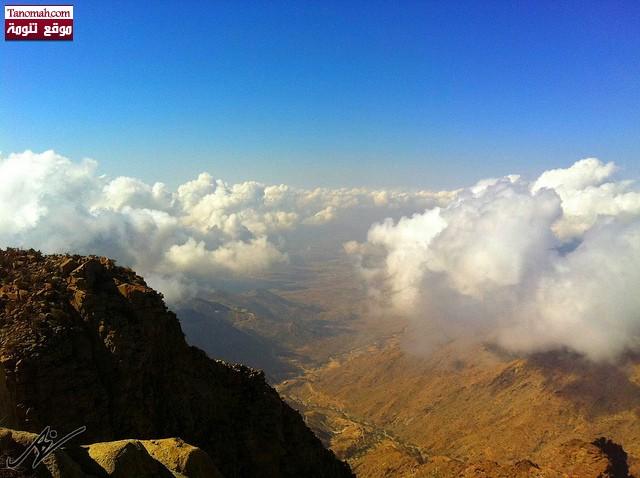 صور من شفا النماص -منظر للسحاب من احد منتزهات النماص  (عدسة علي الشهري)