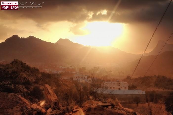 غروب الشمس في آل خضاري - خالد يوسف