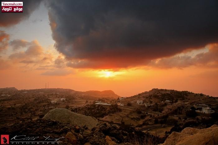 غروب الشمس في الاربوعة  - خالد يوسف