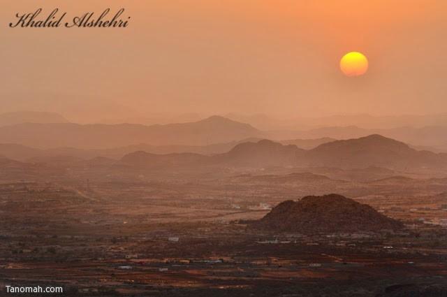 غروب الشمس جبل بركوك - عدسة خالد عبدالرحمن
