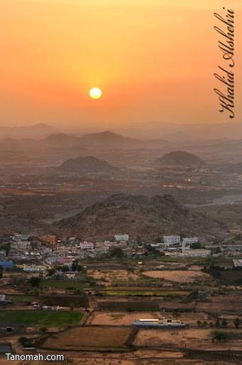غرو ب الشمس ثلاثاء المنظر - عدسة خالد عبدالرحمن