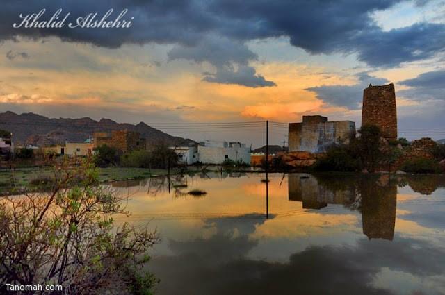 أجواء قرية تنومية بعد يوم ماطر - عدسة خالد عبدالرحمن