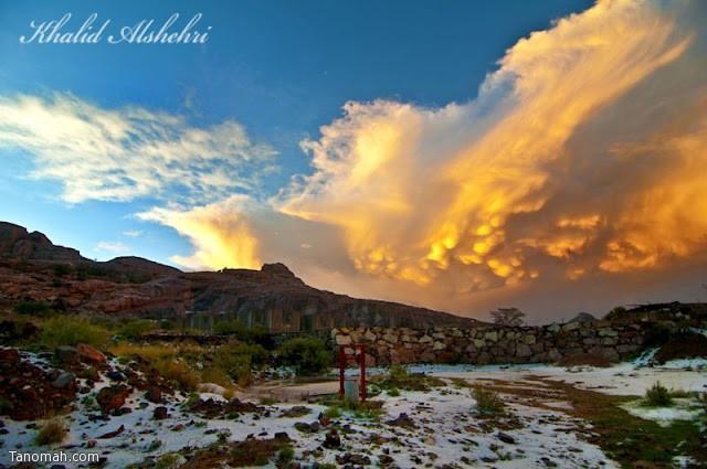 منظر للسحب من شعف ال معافا - عدسة خالد عبدالرحمن