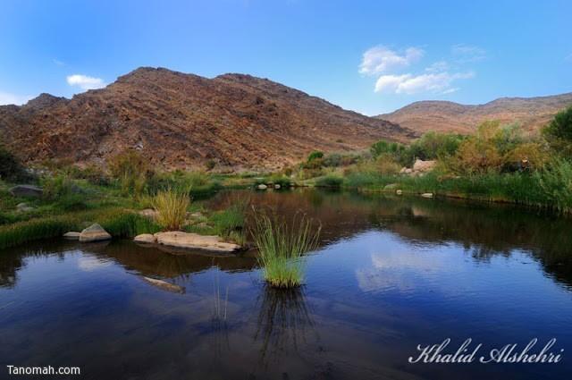 """المياه الجارية في منتزه """"رحل"""" شرق تنومة - عدسة خالد عبدالرحمن"""