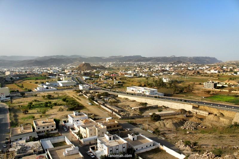 منظر للجزء الجنوبي من تنومة - عدسة عبدالله غرمان