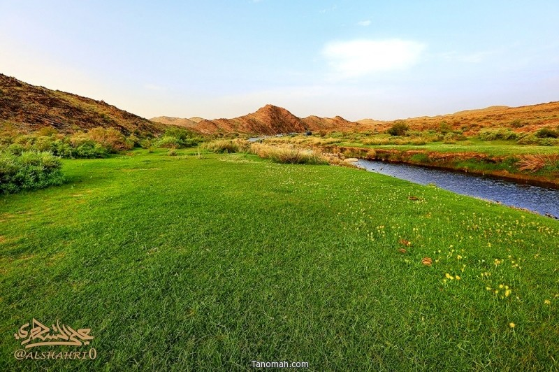 منظر من وادي ترجس غرب تنومة - عدسة علي بن احمد