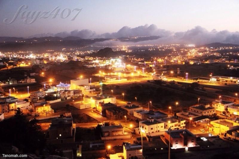 صورة ليلية لـ تنومة - عدسة فايز الشهري