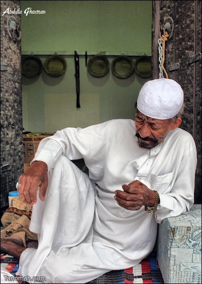 بن علايم  شخصية إجتماعية محبوبة التقطت له هذه الصورة في الجنادرية  قبل عامين (عدسة عبدالله غرمان)