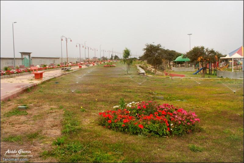 ري المسطحات الخضراء في منتزه الأمير نايف (الشرف) بمحافظة #تنومة