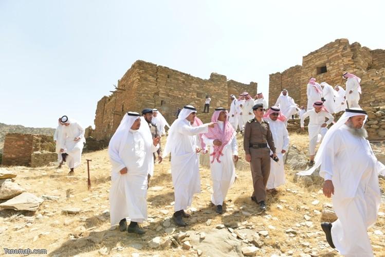 زيارة سمو الأمير سلطان بن سلمان رئيس هيئة السياحة والأثار لمحافظة تنومة 1