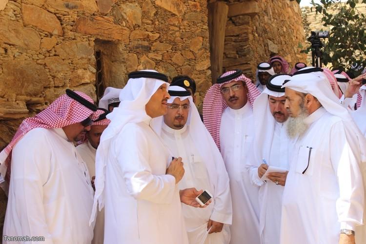 زيارة سمو الأمير سلطان بن سلمان رئيس هيئة السياحة والأثار لمحافظة تنومة 2