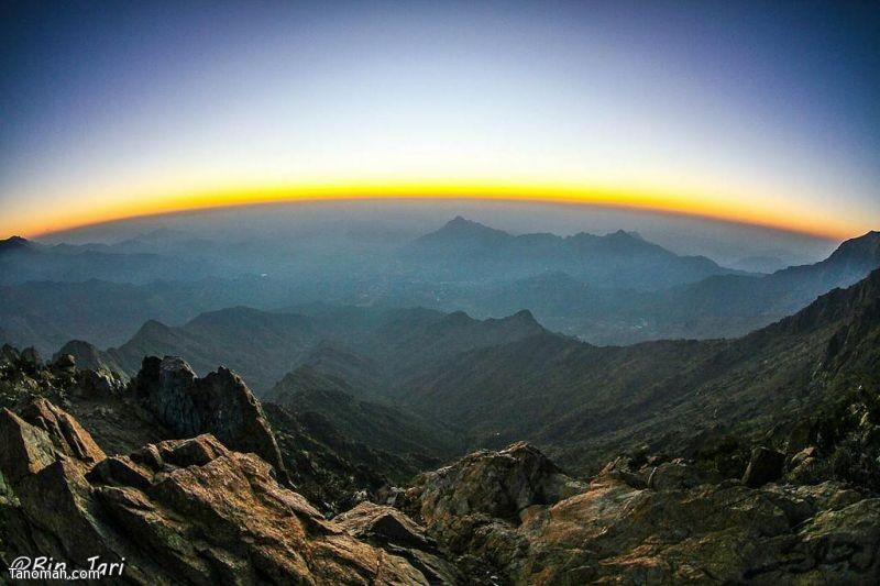 صورة للأفق من شفا النماص
