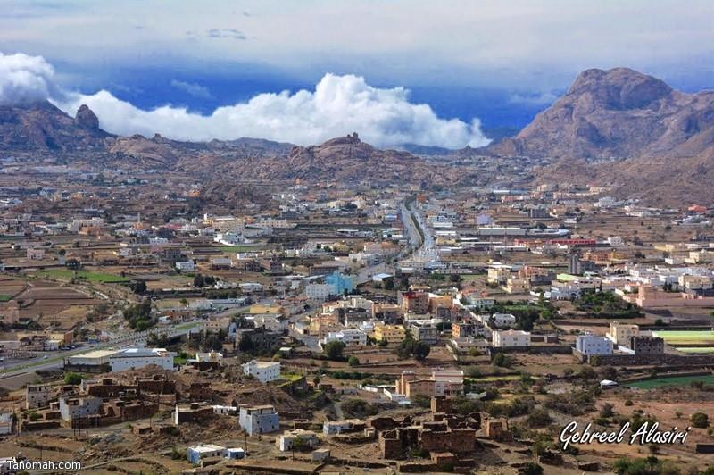 منظر لمدينة تنومة - عدسة جبريل العسيري