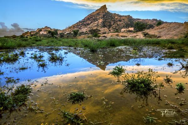 """منظر لجبل """"عيسى"""" غرب تنومة تصوير عبدالله الشهري"""