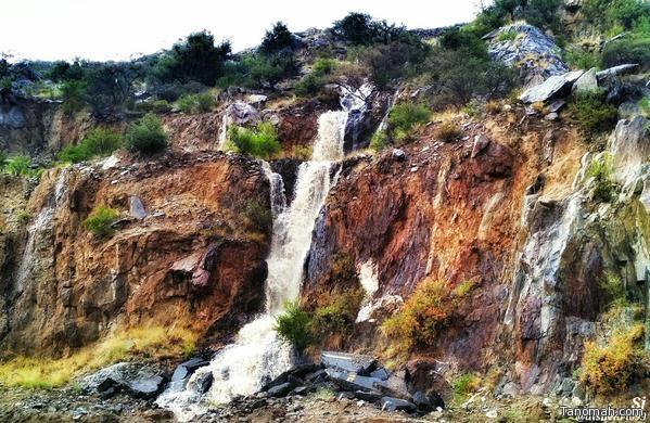 شلالات أمطار النماص عدسة صالح الجبيري