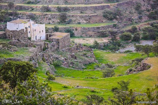 قرية أثرية في بللسمر - عدسة بن جاري