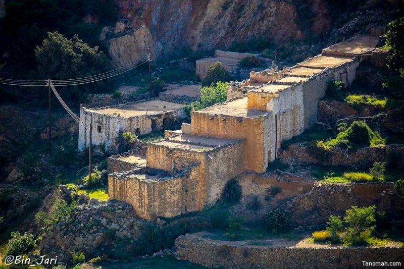 إحدى القرى الأثرية في شمال النماص - تصوير بن جاري