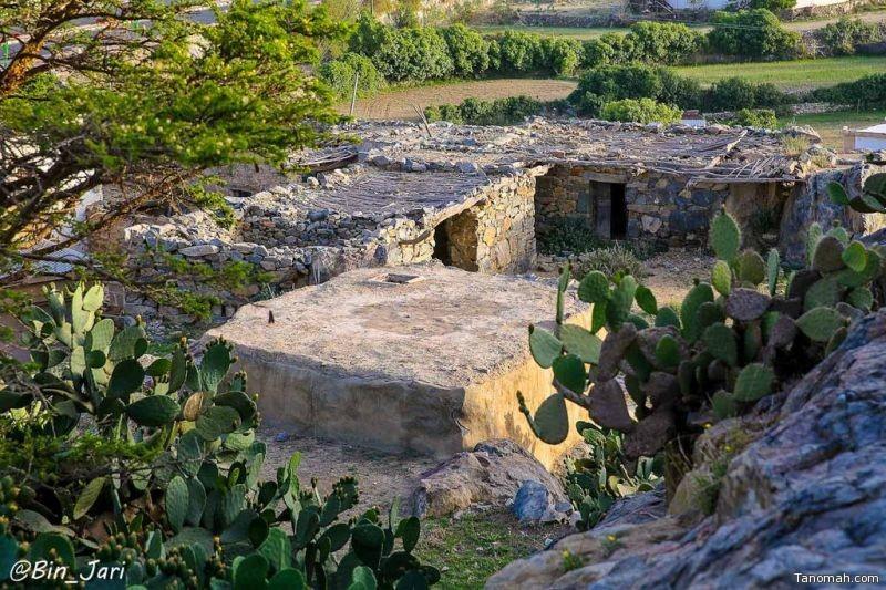 قرية صعبان الأثرية جنوب محافظة النماص - عدسة بن جاري