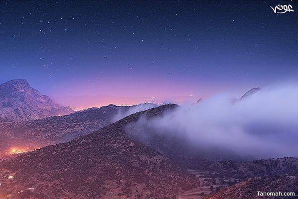 السحاب يعانق جبال تنومة