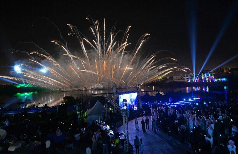 #صورة لمظاهر الإحتفال بـ #أبها عاصمة للسياحة العربية
