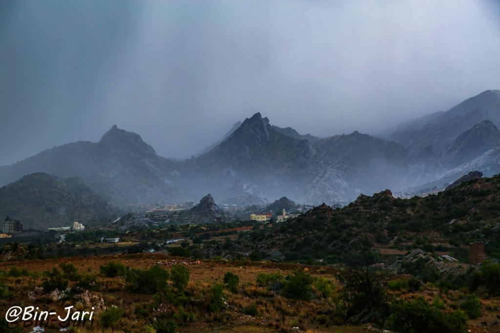 #أمطار قرى آل خضاري  في  #تنومة