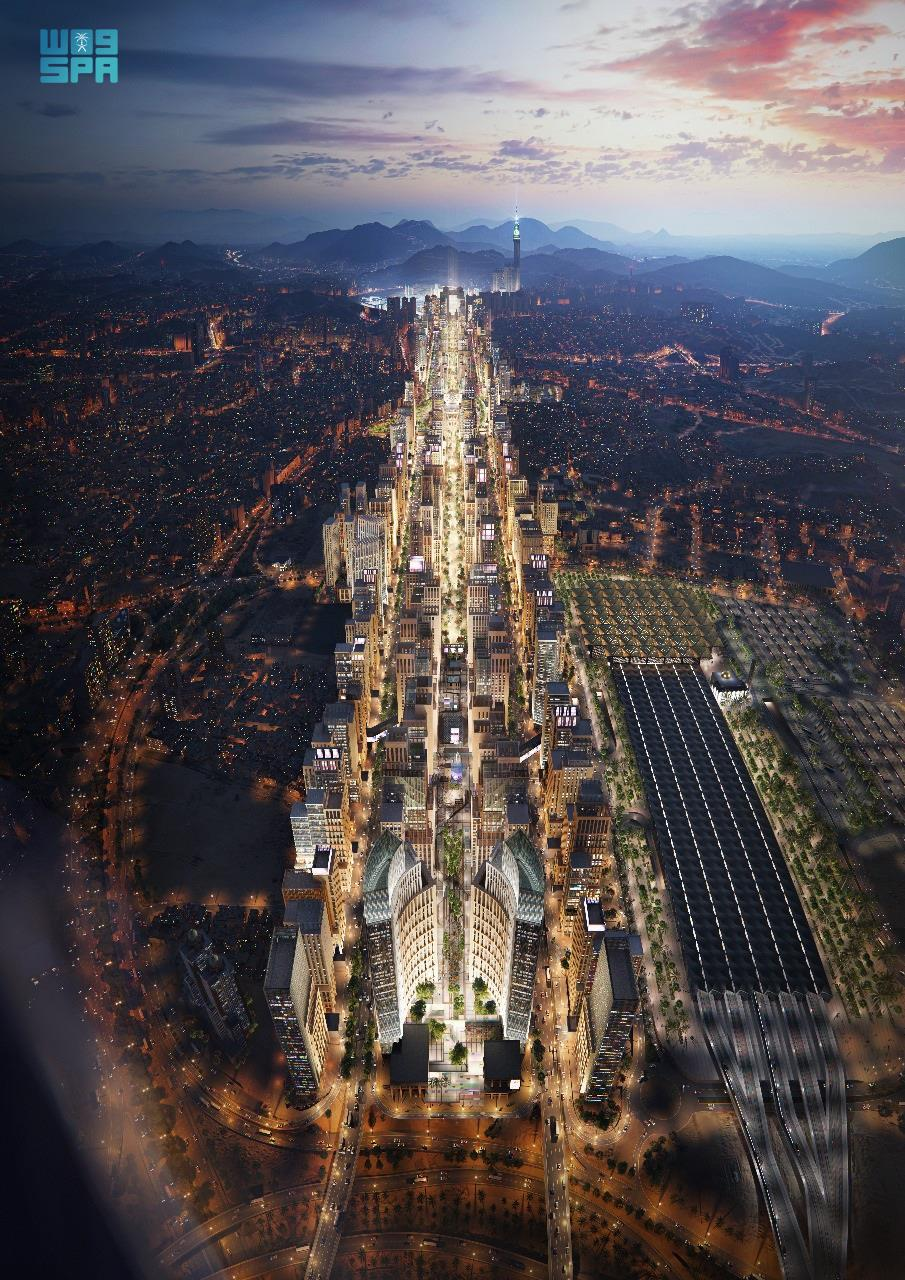 """طريق الملك عبدالعزيز بمكة والذي يقع في الجزء الغربي من العاصمة المقدسة، النواة الرئيسية لوجهة """"مسار""""، إحدى أهم المشاريع التنموية التطويرية التي تهدف إلى تعزيز جودة حياة الإنسان لأهالي مكة وضيوفها"""