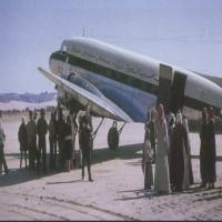 #صورة نادرة لـزيارة #الملك_سعود لـ #العلا عام ١٣٧٨هـ–1958م