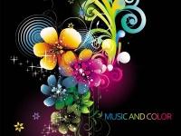 أزهار ملونة