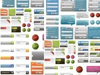 مجموعة عناصر تصميم مواقع و بنرات