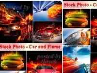 سيارات مشتعلة