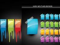 عناصر تصميم  مواقع ملونة