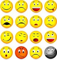 وجوه تعبيرية Funny 3D Smiles Vector