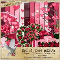 اسكراب  - سرير من الورود