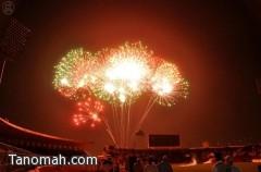 الألعاب النارية في احتفالات العيد بالرياض