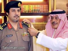 أمير الباحة يقلد العقيد العمري رتبته الجديدة