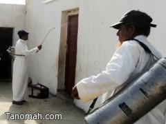 صحة عسير تنفذ حملات رش  بالمبيد  في قرى تهامة