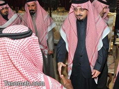 سمو أمير منطقة عسير يستقبل المعزين في وفاة والدته رحمها الله
