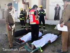 إخماد حريق في سجن تنومة ونقل المصابين الى المستشفى
